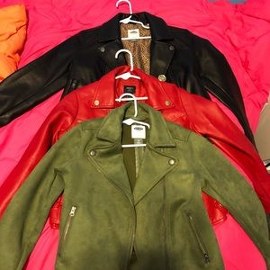 Girls Faux Leather Jackets Bundle Deal